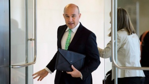 Jim Balsillie, Council of Canadian Innovators, arrives to appear as a witness at a Commons privacy and ethics committee in Ottawa on Thursday, May 10, 2018, hearing witnesses on the breach of personal information involving Cambridge Analytica and Facebook. THE CANADIAN PRESS/Sean Kilpatrick