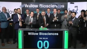 Officials with Willow Biosciences rang the bell at the TSX on Wednesday morning.