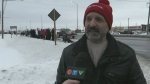 Watch an update from the OSSTF picket lines in nor