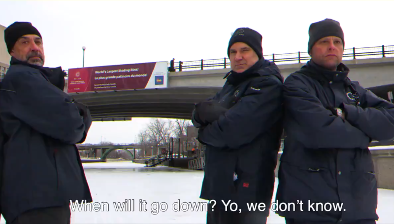 NCC CEO Tobi Nussbaum joins the Rideau Canal maintenance crew for a rap video.
