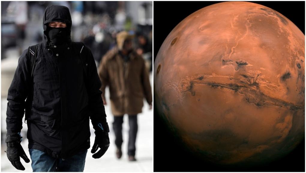 Warmest temperature in Alberta still colder than the warmest temperature on Mars