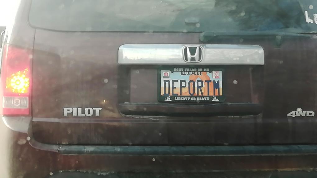 DEPORTM plate
