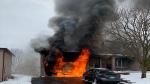 Innisfil garage fire