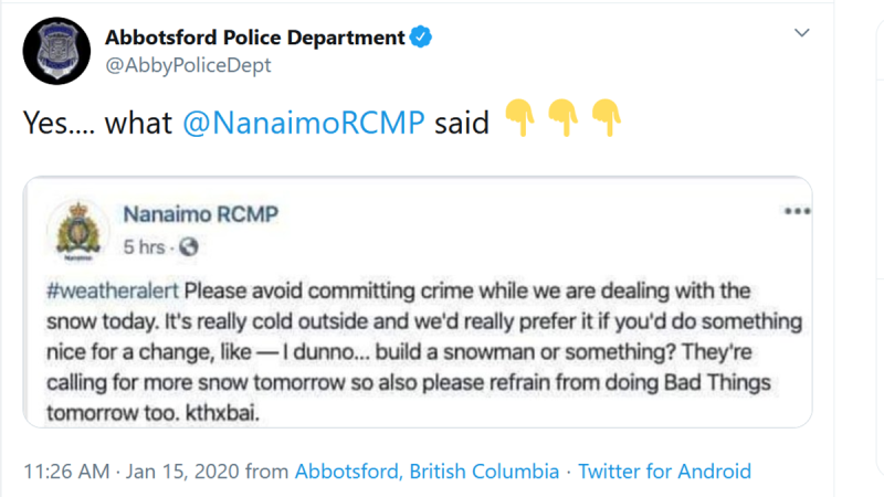 Fake Nanaimo RCMP post