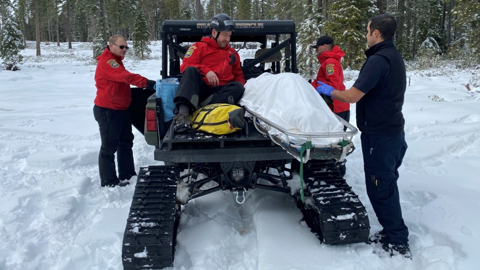 A weeklong search came to a happy end when a California woman was found alive in her snow-covered vehicle in the mountains north of Sacramento. (Butte Co Sheriff's Office)