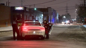 Montreal police are investigating after shots were fired into the front window of a music studio in Ahuntsic-Cartierville.