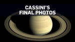 Final images taken by NASA's Cassini spacecraft