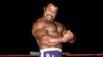 "In this undated photo provided by WWE, Inc., Rocky ""Soul Man"" Johnson poses in the ring. Johnson, a WWE Hall of Fame wrestler who became better known as the father of actor Dwayne ""The Rock"" Johnson, died Wednesday, Jan. 15, 2020. He was 75. (WWE, Inc. via AP)"