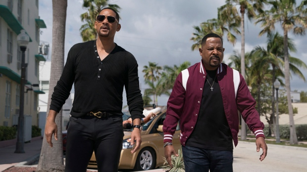 "This image released by Sony Pictures shows Martin Lawrence, right, and Will Smith in a scene from ""Bad Boys for Life."" (Ben Rothstein/Columbia Pictures-Sony via AP)"
