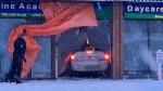 A vehicle went through the front window of a daycare on Jan. 16, 2020. (Evan Klippenstein/CTV News Edmonton)