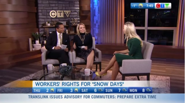 Workers' rights for snow days