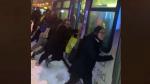 Passengers push Vancouver bus