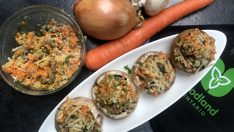 Sicilian Stuffed Mushroom Caps