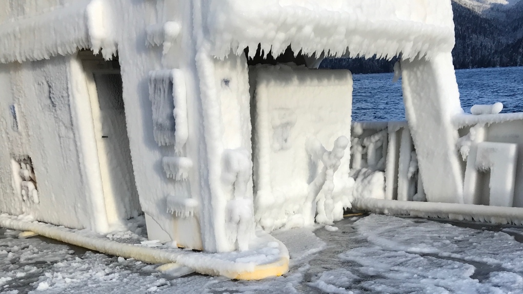 BC Ferries vessel taken out of service after icy ride