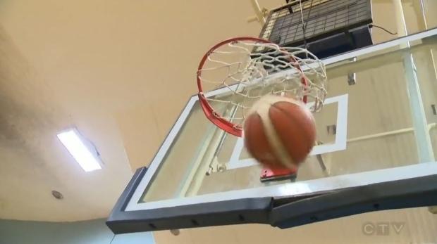CTV News file image of a basketball net.