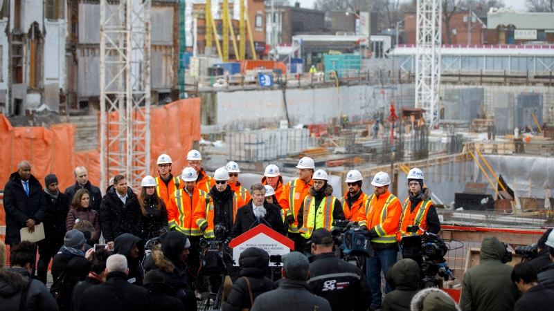 Toronto Mayor John Tory speaks during a news conference at a construction site that will soon house residential housing in Toronto on Thursday, Jan. 16, 2020. THE CANADIAN PRESS/Cole Burston