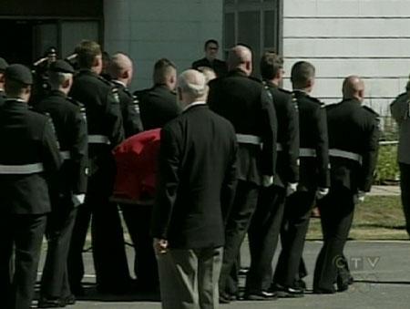 Funeral for Maj. Yannick Pepin.