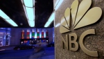 """This Aug. 21, 2009, file photo shows the NBC logo at its headquarters in New York. Comcast's NBCUniversal says its upcoming streaming service will be called Peacock, in an homage to NBC's logo, and will be the home for some of the company's most popular shows, including """"Parks and Recreation,"""" """"The Office"""" and """"30 Rock."""" (AP Photo/Bebeto Matthews, File)"""