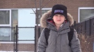 Kingsley Corson, 5, was struck in the head during an alleged attack at Our Lady of Good Counsel Catholic Elementary School in East Gwillimbury. Jan. 16, 2020 (Mike Arsalides/CTV News)