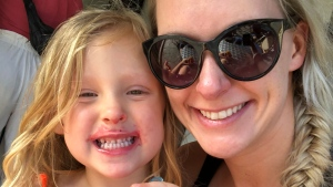 David Kindrat's wife and daughter enjoy ice cream while in Costa Rica. (Provided by Kindrat)