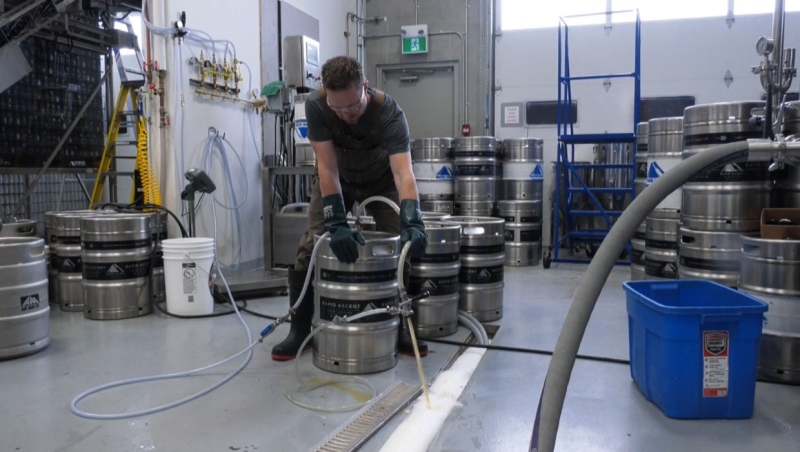 When staff at Rapid Ascent Brewing in Calgary got into the building Thursday, 20 kegs of suds were frozen solid.