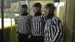 Kevin and David Cassidy, along with Kaleb Hammond, represent three family generations of on-ice officials.