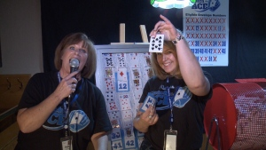 Members of the Renfrew Victoria Hospital Foundation team show off the 10 of Spades that was pulled in Thursday's draw of the Catch the Ace lottery. The jackpot for whoever finds the Ace of Spades is now over $675,000. (Aaron Reid/CTV Ottawa, January 16, 2020)