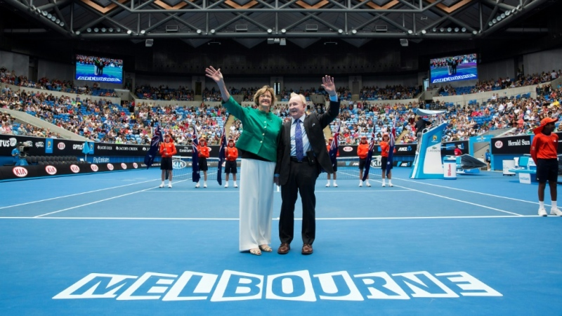 Margaret Court and Rod Laver are Australia's two greatest tennis champions. (AFP)