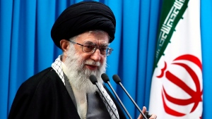 In this Feb. 3, 2012 photo released by an official website of the Iranian supreme leader's office, Iranian supreme leader Ayatollah Ali Khamenei delivers his sermons of Friday prayers at the Tehran University campus in Tehran, Iran. (Office of the Supreme Leader via AP)