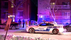 A man in his 20s is in hospital after he was stabbed during an altercation in Montreal's Saint-Laurent borough.