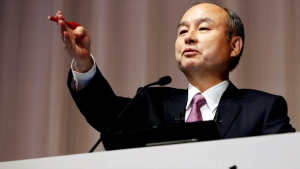 In this Nov. 6, 2019, file photo, SoftBank founder and Chief Executive Officer Masayoshi Son speaks during a news conference in Tokyo. Japan's SoftBank is offering to invest $30 billion to $40 billion in the development of a new Indonesian capital, an official said Friday, Jan. 17, 2020. (Kyodo News via AP, File)