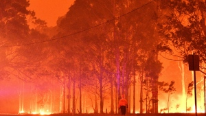 Smoke from bushfires has blanketed large parts of Australia. (AFP)