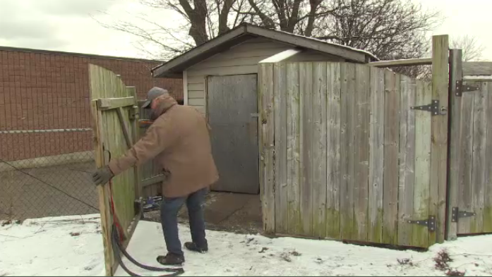 Man living in shed refuses to go to shelter