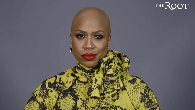 U.S. Rep. Ayanna Pressley in a video posted Thursday, Jan. 16, 2020, announcing that she has gone bald due to alopecia.  (Courtesy of The Root and G/O Media via AP)