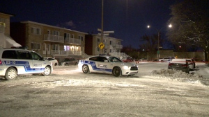 Montreal police are investigating after shots were fired at a home in the Ahuntsic-Cartierville borough.