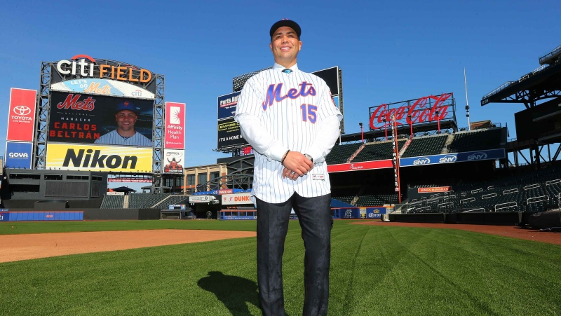 Carlos Beltran's managerial career with the New York Mets ended before it began as he stepped down for his involvement in the Houston Astros sign stealing scandal. Rich Schultz/Getty Images