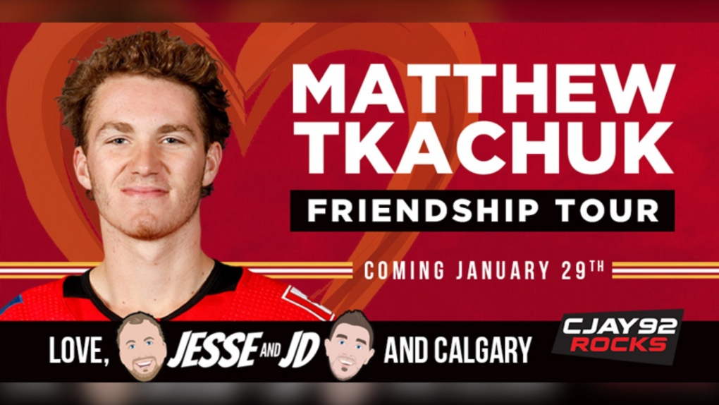 Matthew Tkachuk, billboards, CJAY 92, Flames
