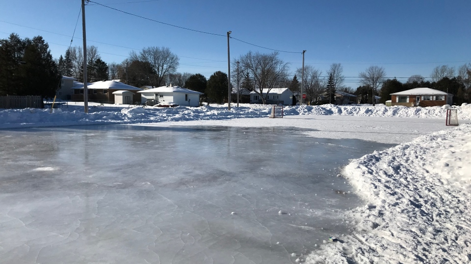 Rosemarie playground rink in New Sudbury. Jan.17, 2020. (Dana Roberts/CTV Northern Ontario)