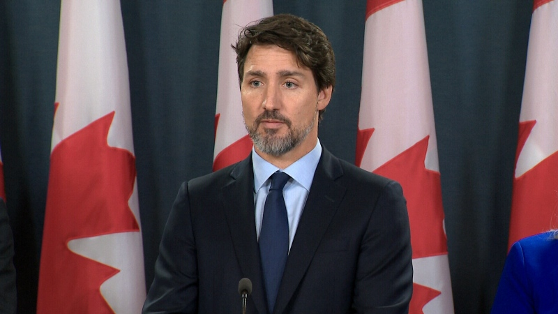 Prime Minister Justin Trudeau announces compensation for the families victims in the Iran plane crash, Friday, Jan. 17, 2020.