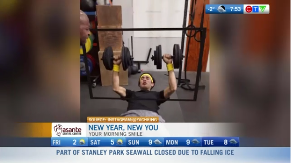 Morning smile funny gym video