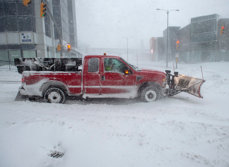 Intense snowfall in Newfoundland and Labrador