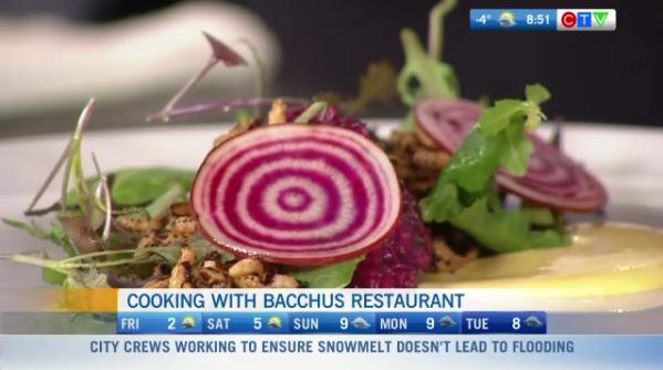 Bacchus restaurant sharing a recipe