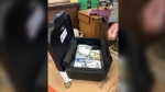 A total of US$43,170 was found in an ottoman cushion purchased at a thrift store. (WNEM)