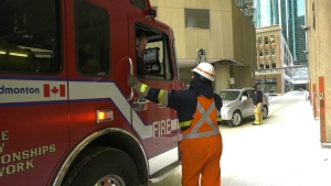 A crash in a downtown Edmonton parkade caused the building to be evacuated on Jan. 17, 2020.