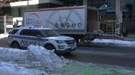 A 60-year-old man is in critical condition after falling from the back of a truck while offloading it on Laurier Ave. Friday, Jan. 17, 2020.