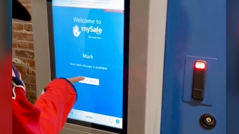 Canada's first opioid vending machine. (MySafeProject/Twitter)