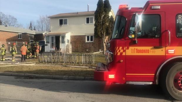 Child taken to hospital after fire in Scarborough home