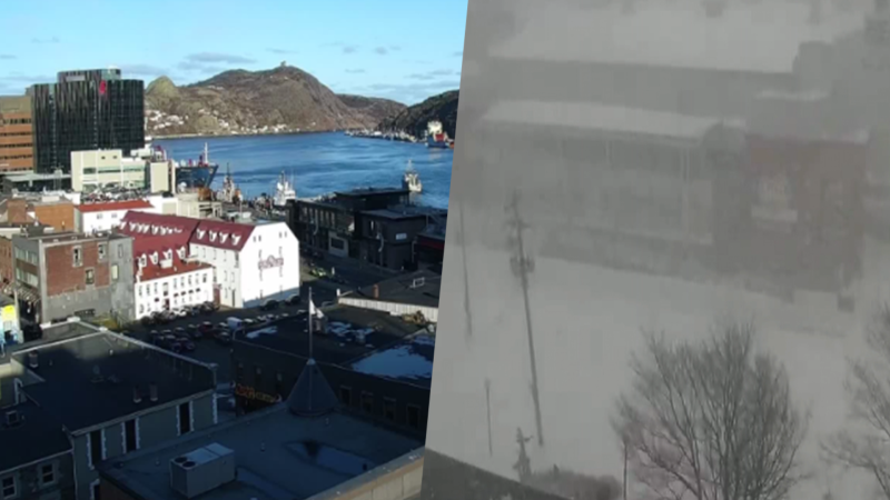St. John's before and after massive winter storm