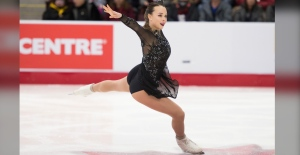 Alicia Pineault competes during the senior women's short program at the 2020 Canadian Tire National Skating Championships in Mississauga, Ont., on Friday, January 17, 2020. THE CANADIAN PRESS/Nathan Denette
