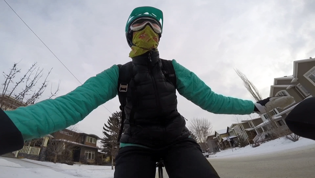 Calgary cyclist's winter biking video gets attention from around the world